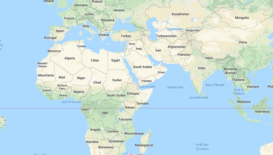 572 Area Code map
