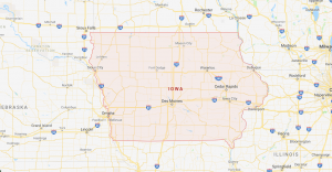 319 Area Code Map
