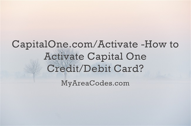 Capitalone Card activation