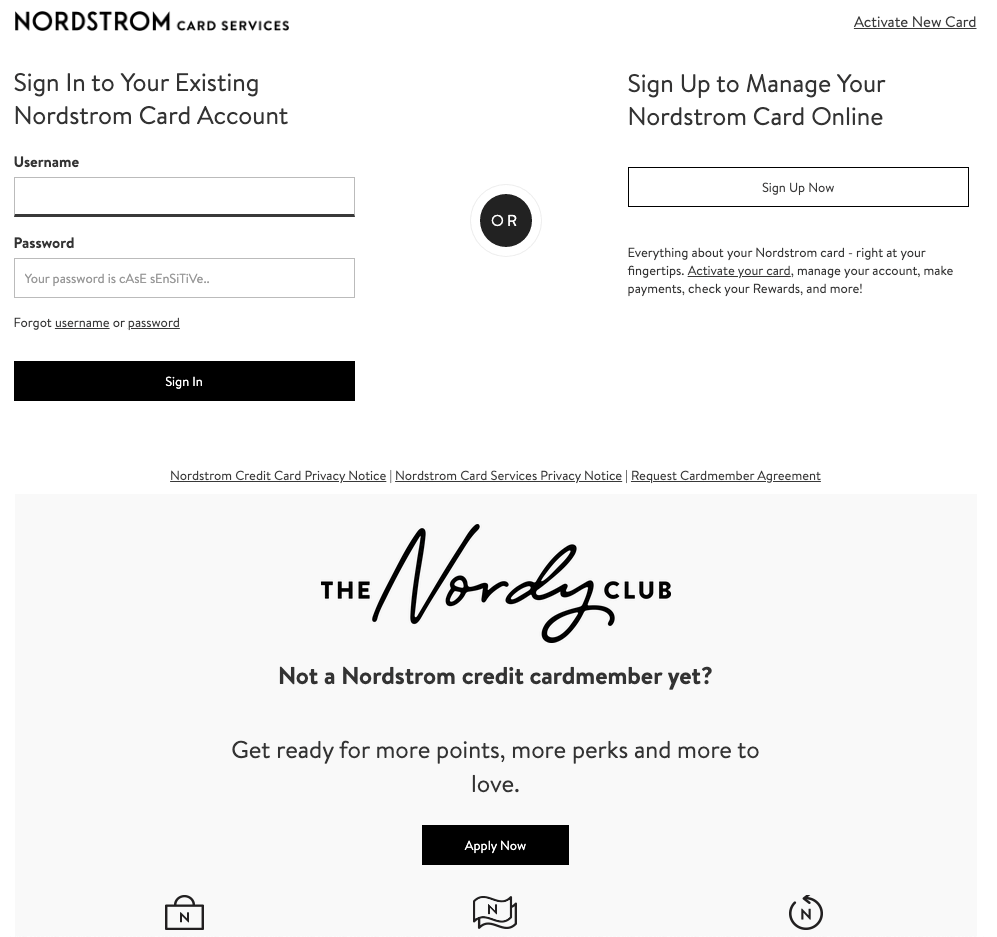 NORDSTROM CARD ACTIVATION PROCESS